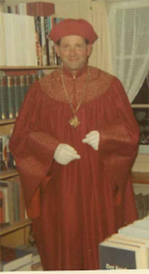 Abb. 2: Bruno Boesch im Rektortalar 1968, Privatbesitz