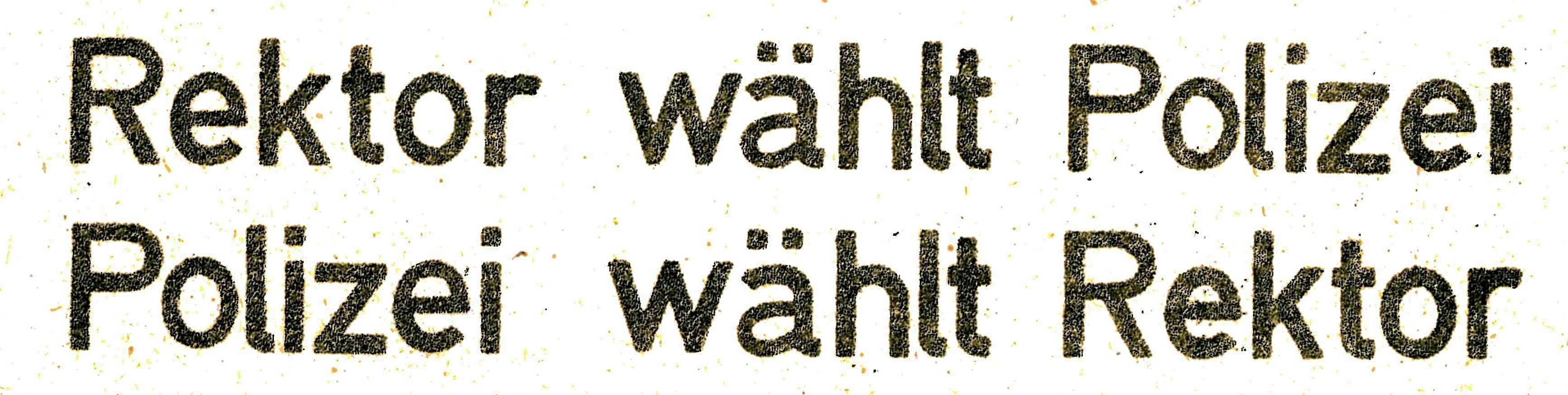 Abb. 7: UAF B47/259. Überschrift der asta-Information für Studenten und Dozenten Nummer 30, 20.12.1968.